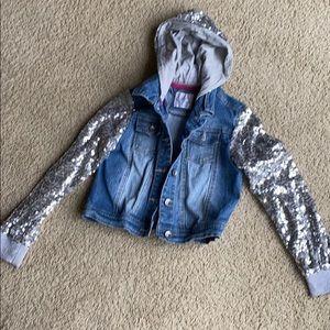 Girls Justice sparkly jean jacket